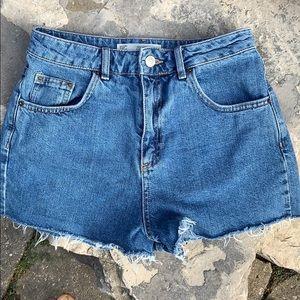 Topshop MOM Jean Shorts Sz 6 US